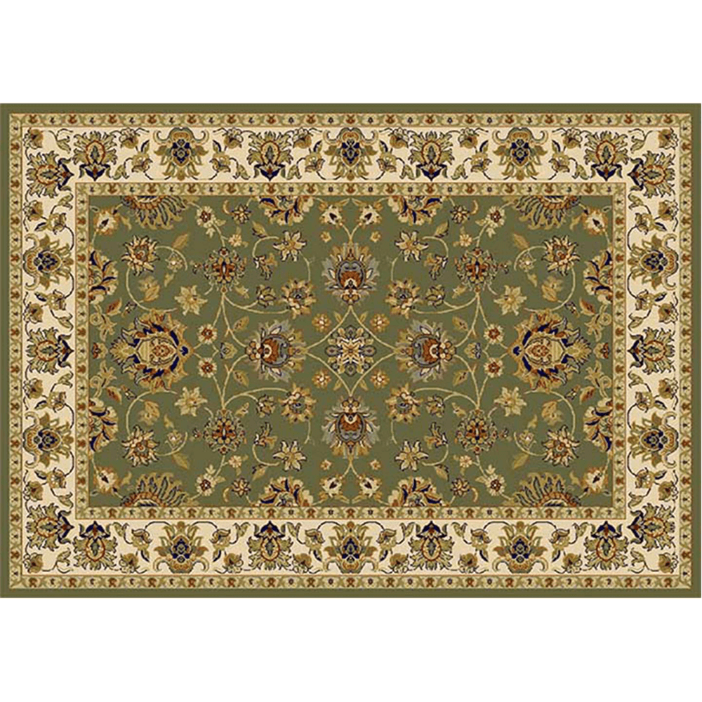 Koberec, zelená/mix farieb/vzor, 67x120, KENDRA TYP 2