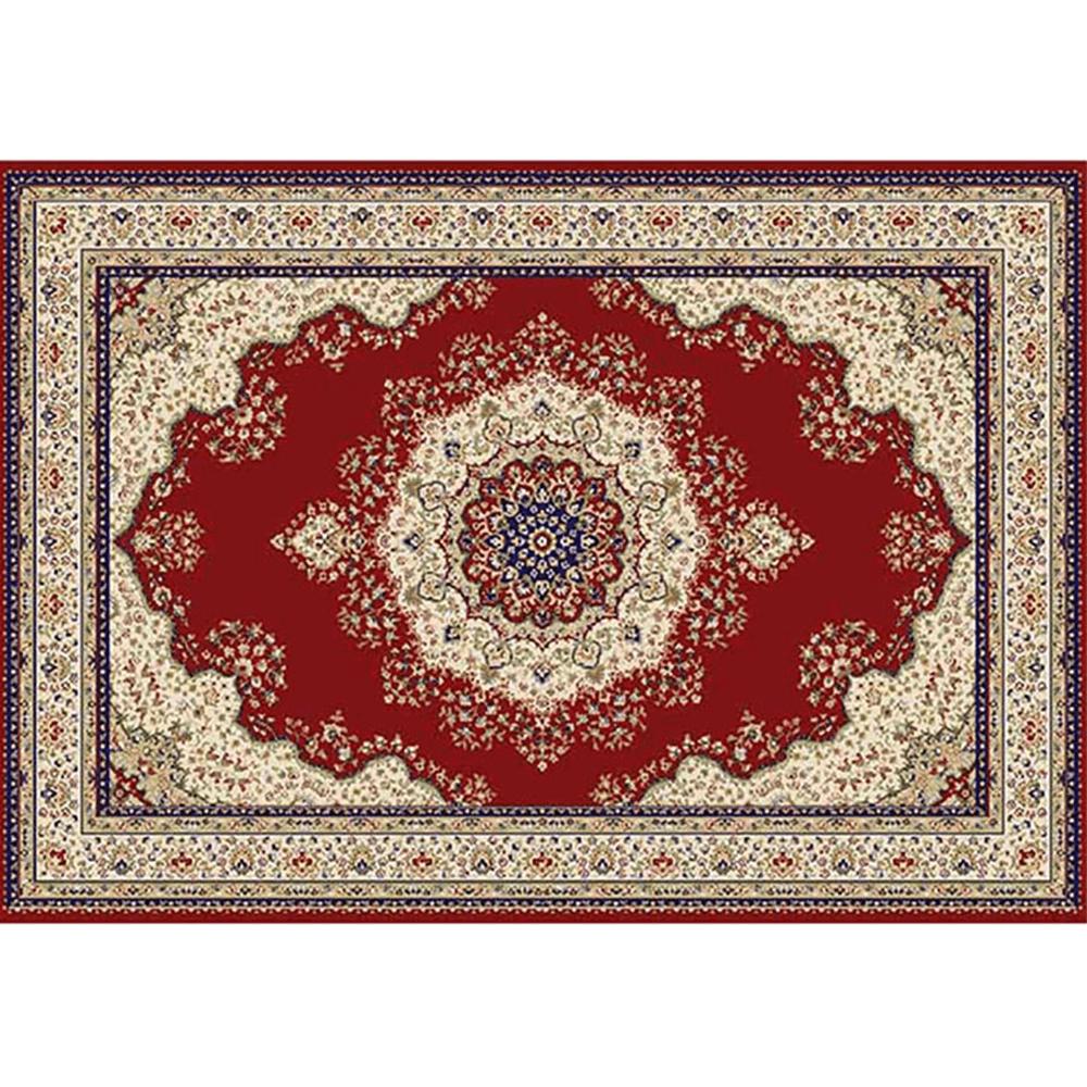 Koberec, vínovočervená/mix farieb/vzor, 160x235, KENDRA TYP 3