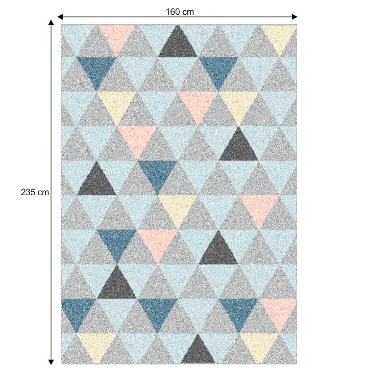 Szőnyeg, többszínű, 160x235, PETAL