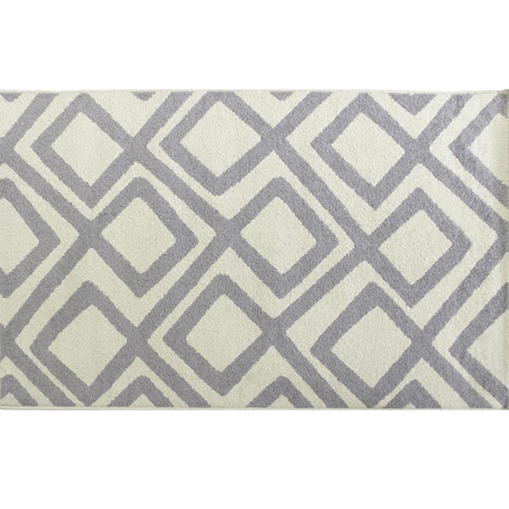 Koberec, krémovo/sivá / vzor, 160x235, GILMER TYP 2