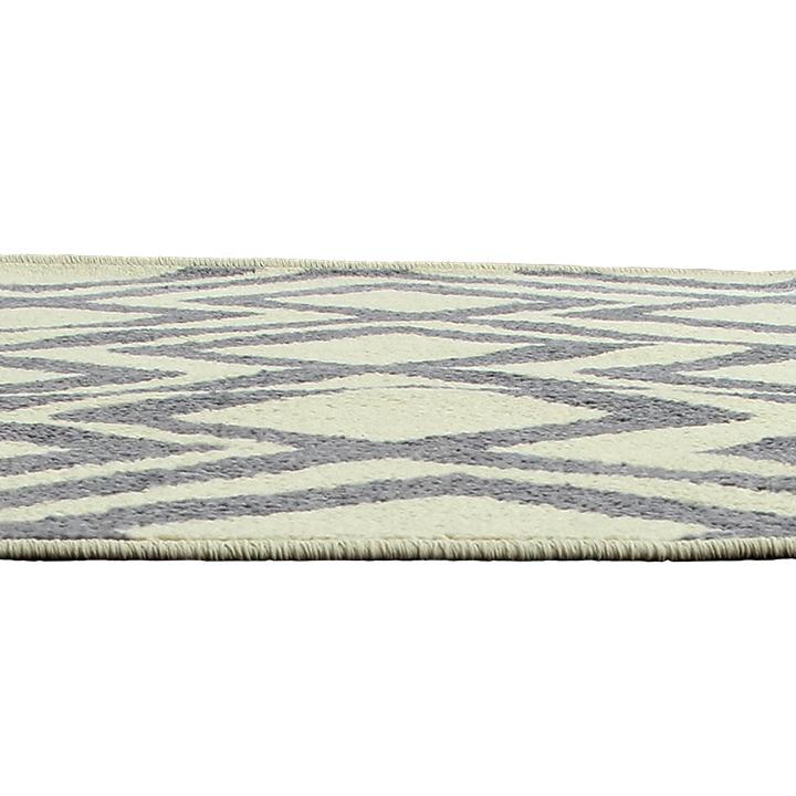 Szőnyeg, elefántcsont színű/szürke, 133x190, GILMER tip 2