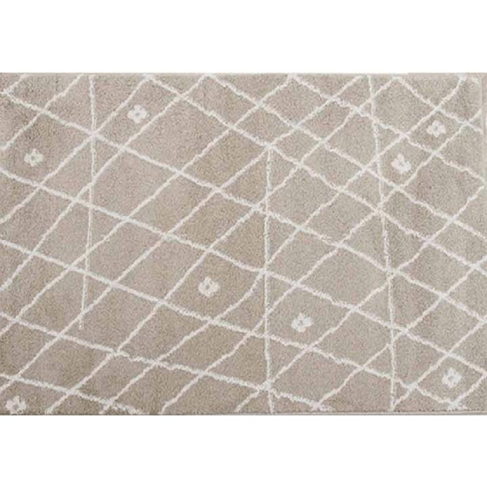 Koberec, béžová/biela, 67x120, TYRON