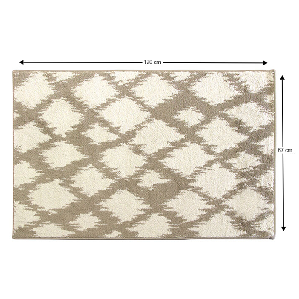 Szőnyeg, krém/fehér, 67x120, LIBAR