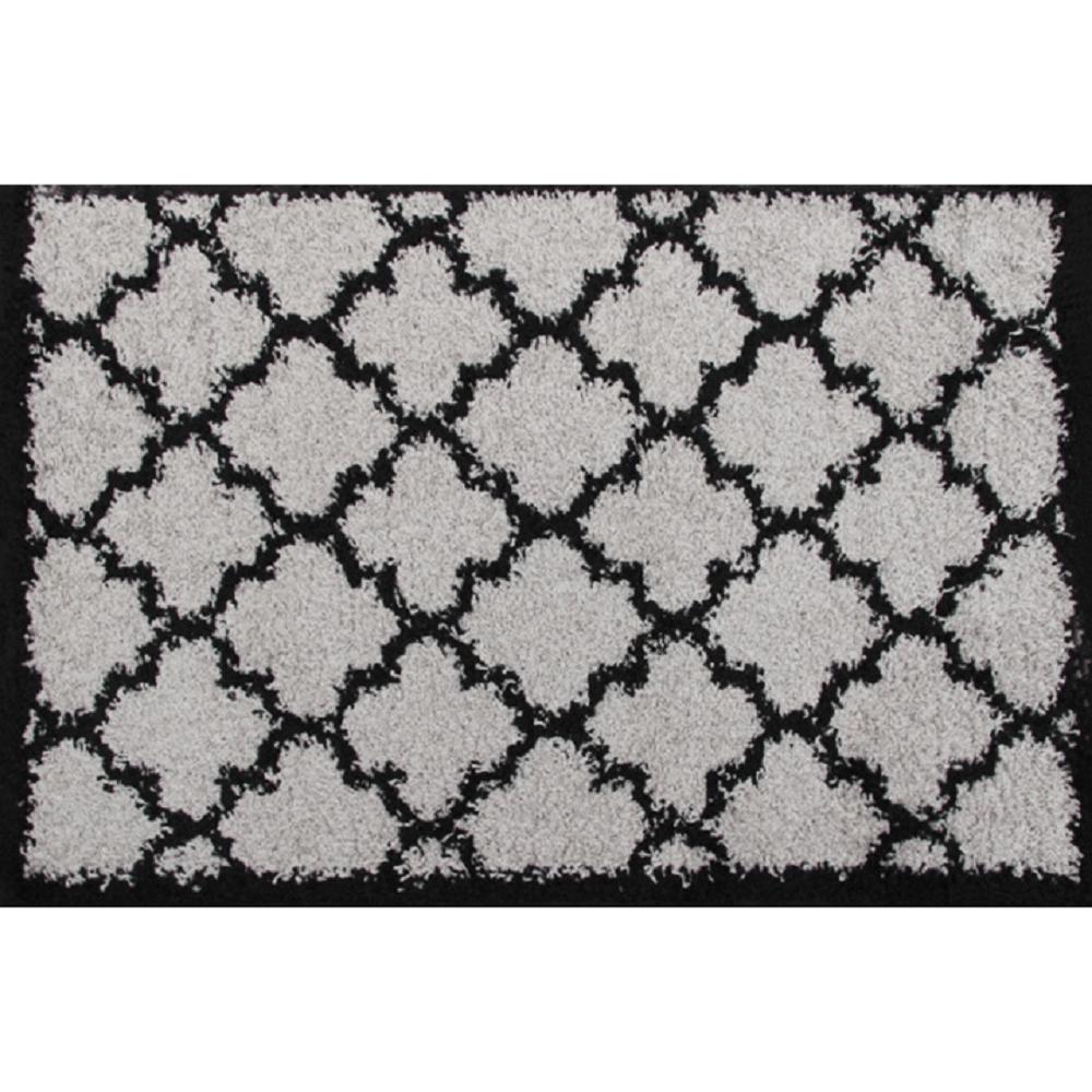 Koberec, šedá / černá, vzor, 133x190, TATUM TYP 2