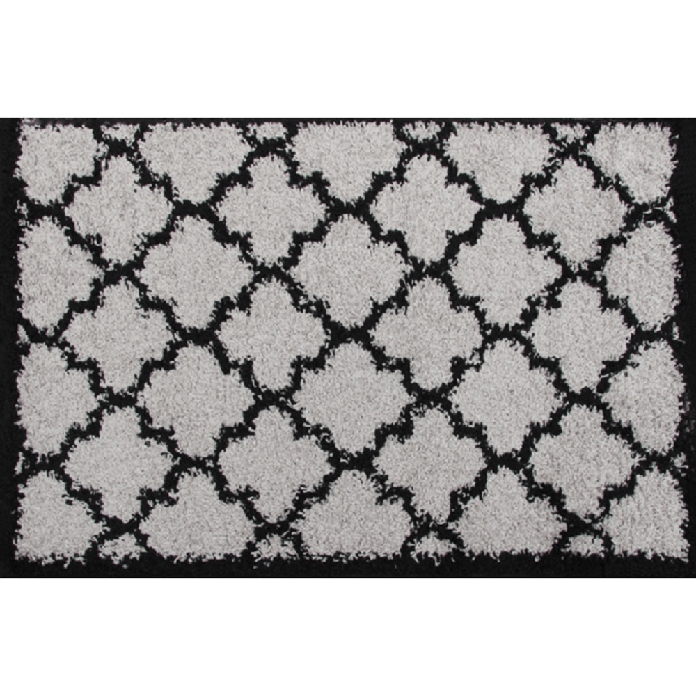 Koberec, šedá / černá, vzor, 100x150, TATUM TYP 2