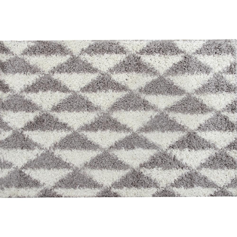 Koberec, krémová/sivá, 133x190, PIXEL
