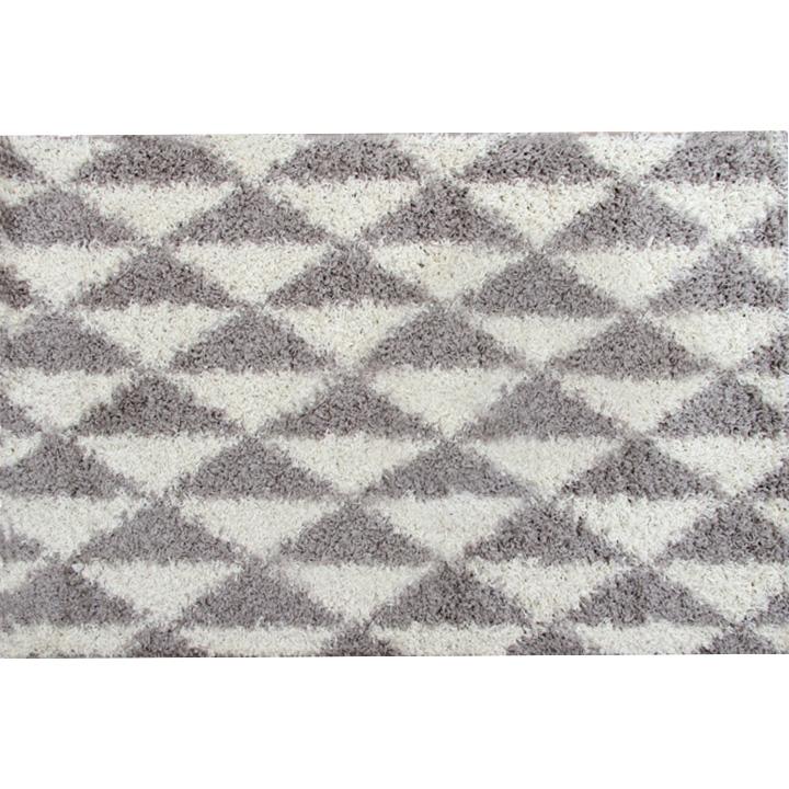 Koberec, krémová/sivá, 100x150, PIXEL