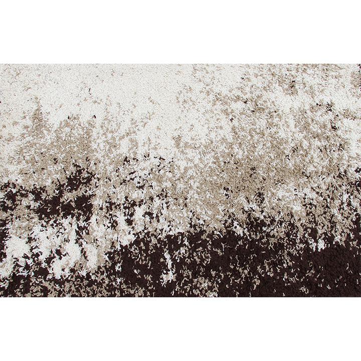 Koberec, krémově / hnědá, vzor, 133x190, LYNTON