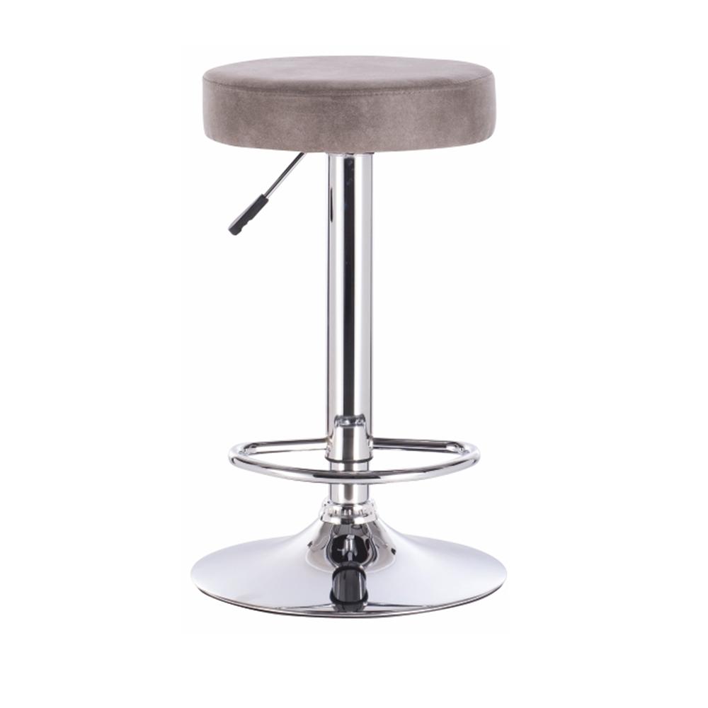 Barová stolička, sivohnedá látka s efektom brúsenej kože, GALVIN