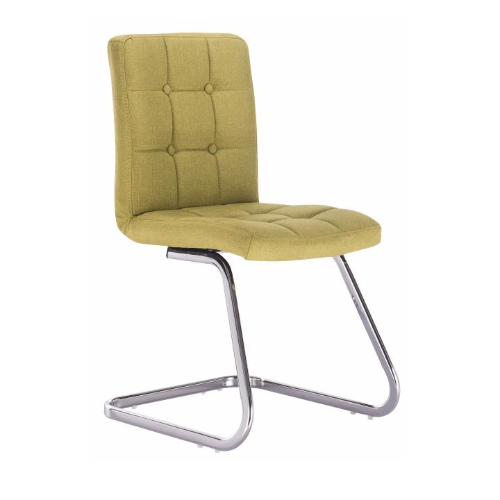 TEMPO KONDELA Dizajnová stolička, zelená látka, LAVINIA