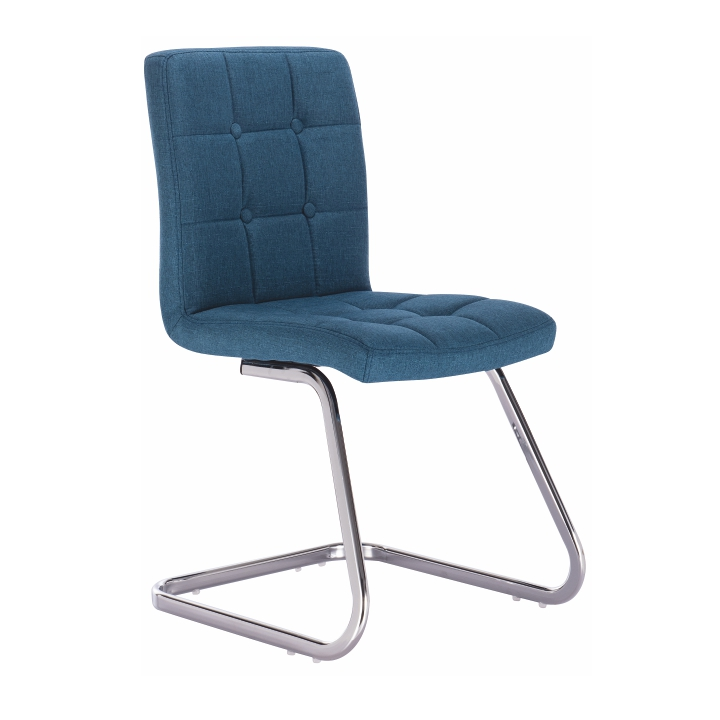 TEMPO KONDELA Dizajnová stolička, tyrkysová látka, LAVINIA