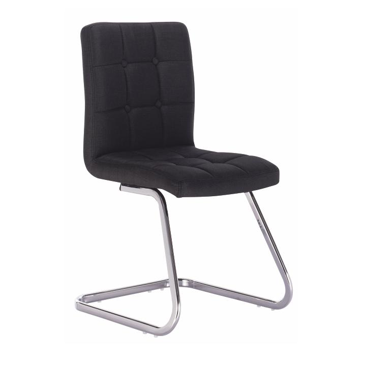 TEMPO KONDELA Dizajnová stolička, čierna látka, LAVINIA