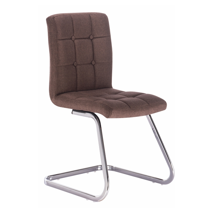 TEMPO KONDELA Dizajnová stolička, hnedá látka, LAVINIA