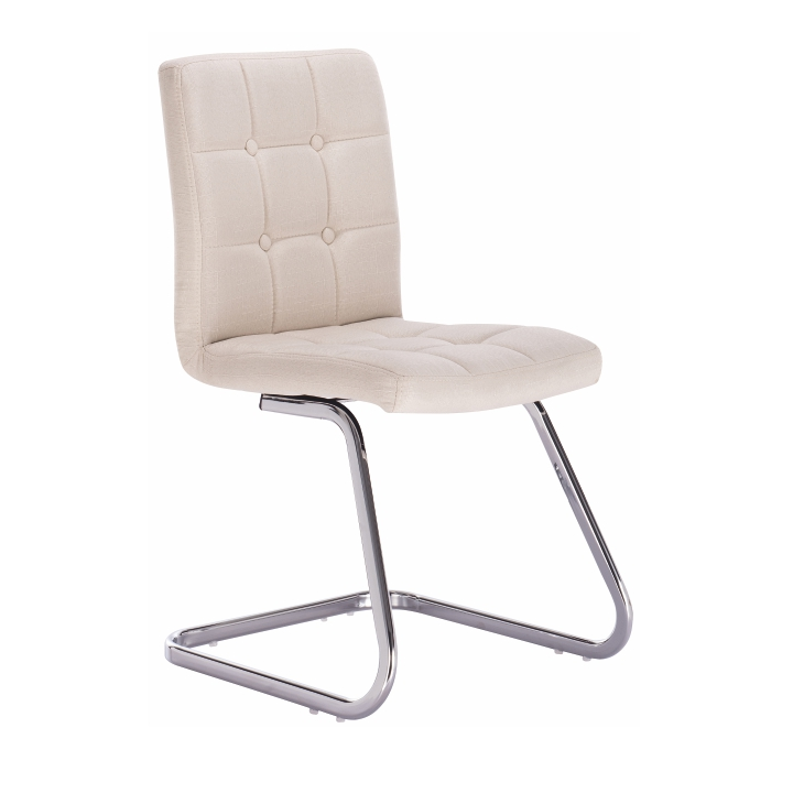 TEMPO KONDELA Dizajnová stolička, krémová látka, LAVINIA