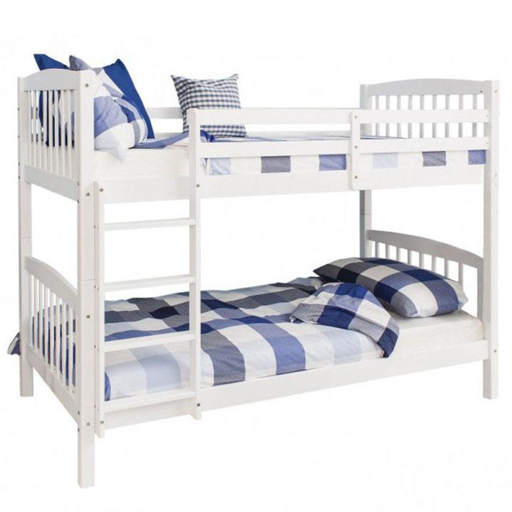 Patrová rozložitelná postel, bílá, RAVELO