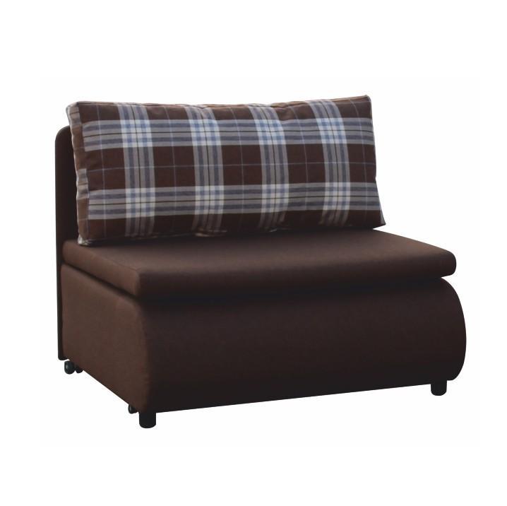 Fotel ágyfunkcióval, barna / káro minta, KENY.