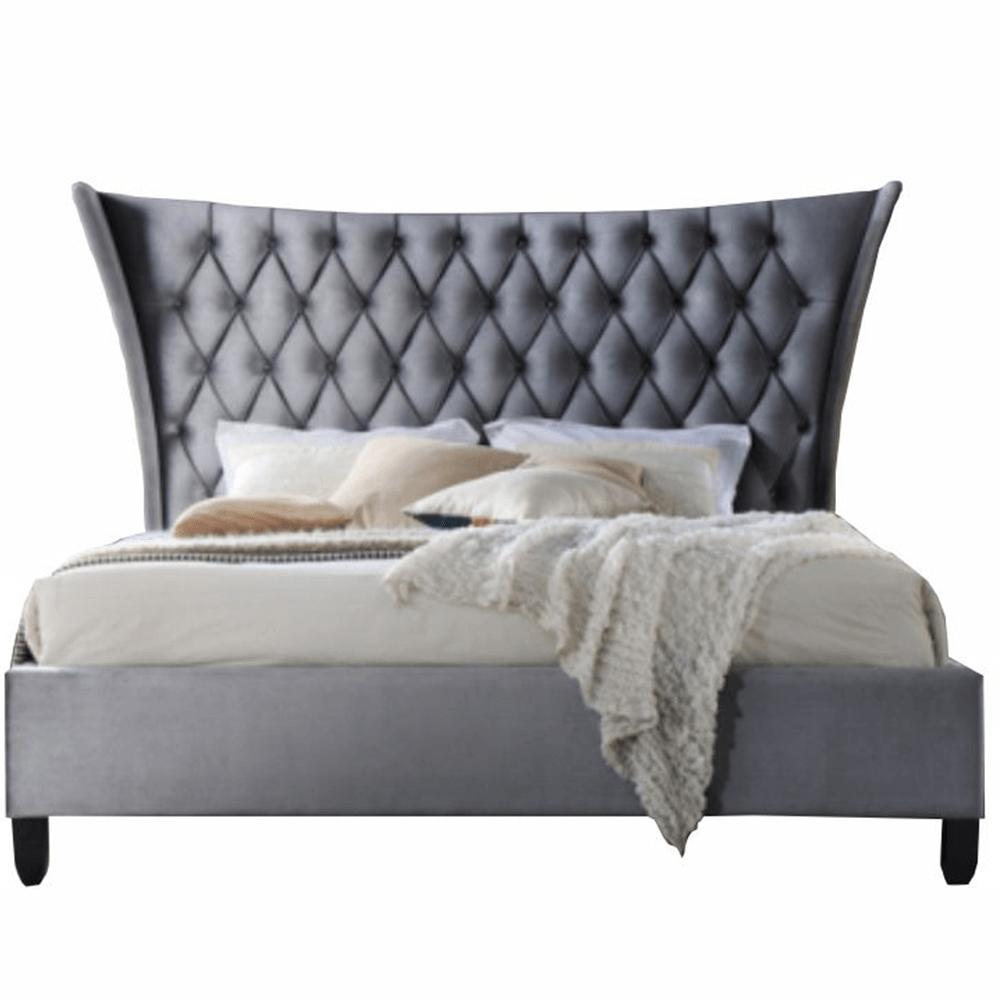 Manželská postel, šedá / wenge, 160x200, ALESIA, TEMPO KONDELA