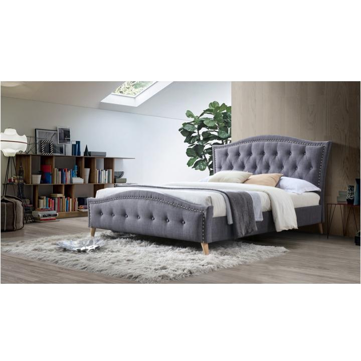 Manželská posteľ, sivá, 180x200, GIOVANA