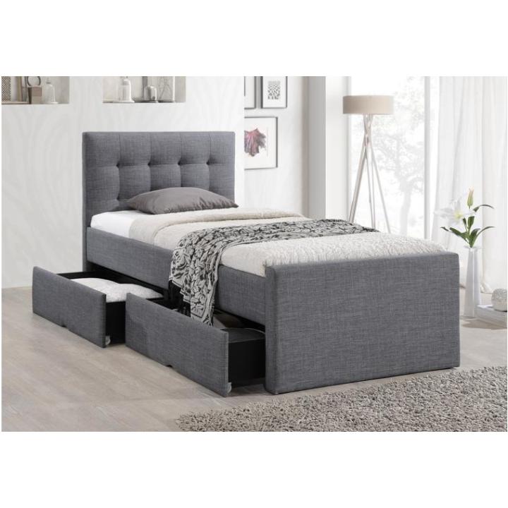 Moderná posteľ, sivá, 90x200, VISKA