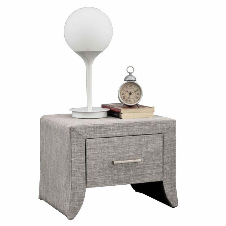 Nočný stolík, sivá, GILES
