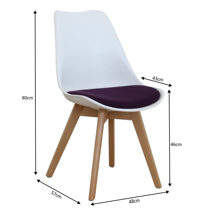 Stolička, biela/fialová, DAMARA