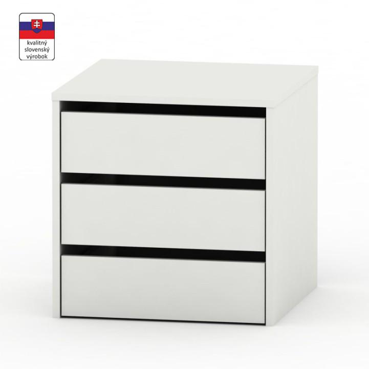3 šuplíkový kontajner, biela, RIA