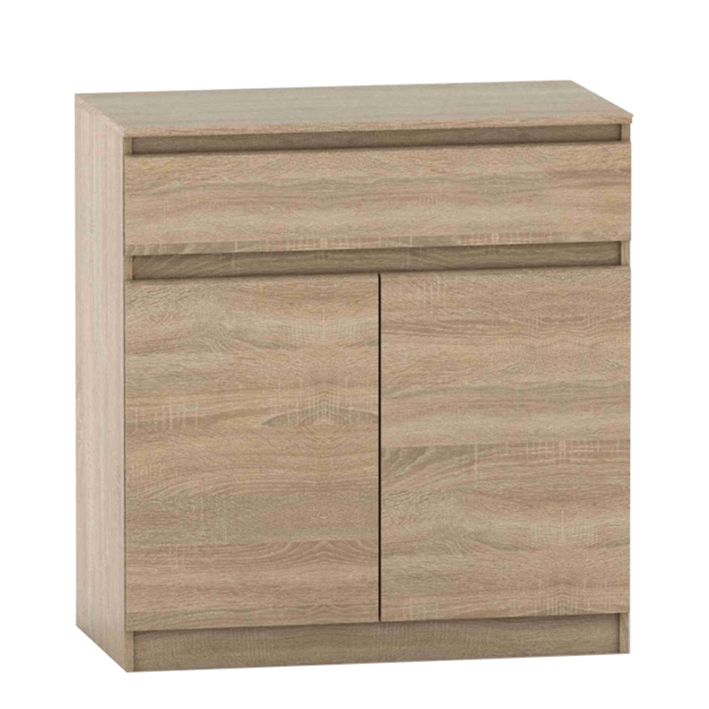 2 dverová komoda s jedným šuplíkom, dub sonoma, HANY NEW 007