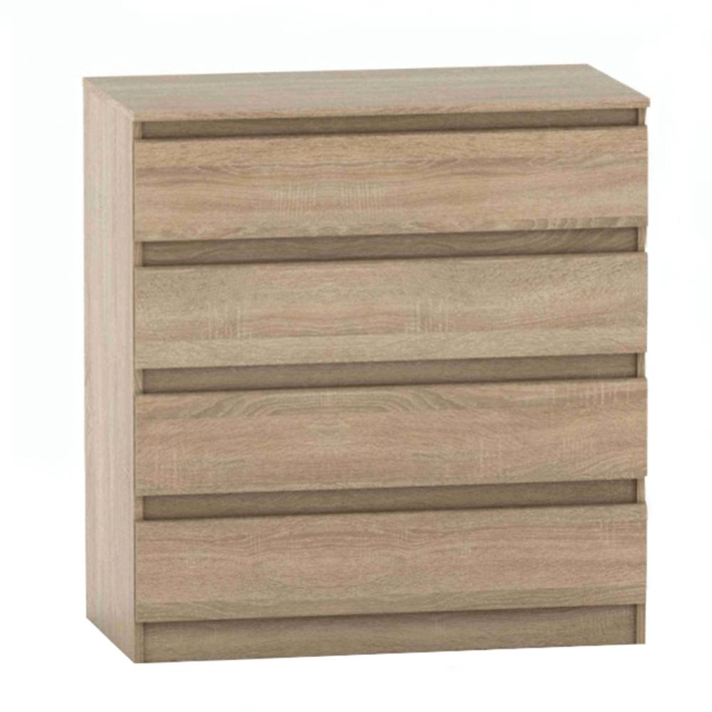 4 šuplíková komoda, dub sonoma, HANY NEW 004