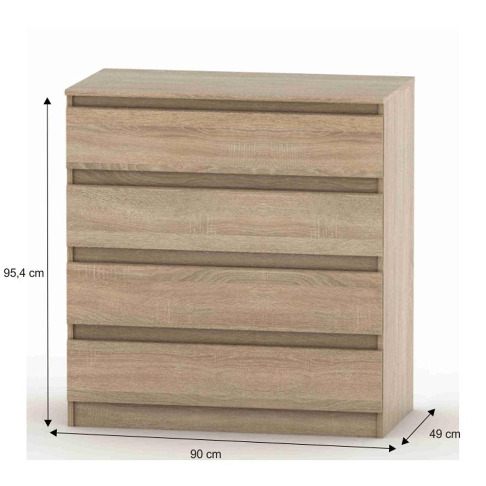 Comoda cu 4 sertare Hany Stejar