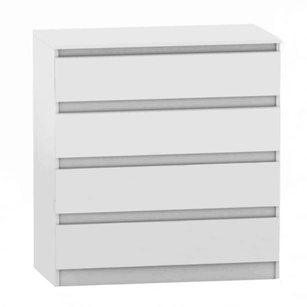 4 šuplíková komoda, biela, HANY NEW 004