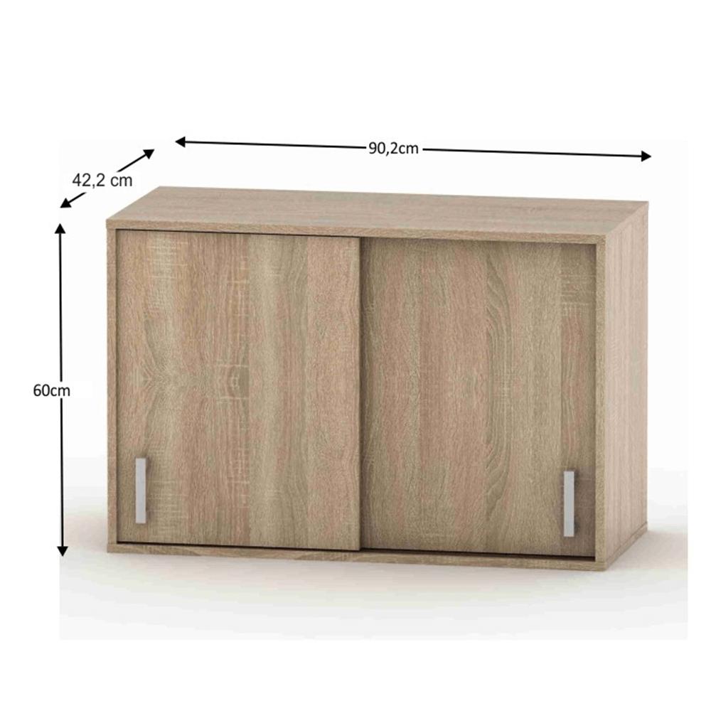 2 ajtós felső szekrény tolóajtóval, keskeny, sonoma tölgy, BETTY 4 BE04-005-00