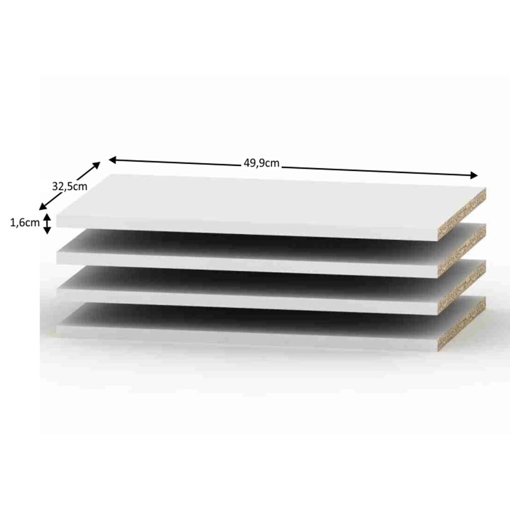 Polcok 4db, fehér, BETTY 4, BE04-003 szekrénybe