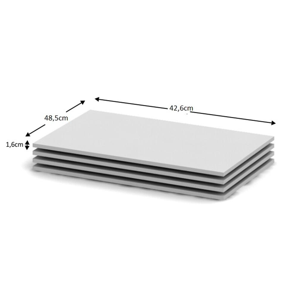 Polcok 3db, fehér, BETTY 4,  BE04-002-00 szekrénybe