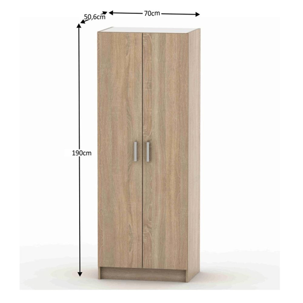 2-ajtós szekrény , akasztós, tölgy sonoma, BETTY 7 BE07-009-00