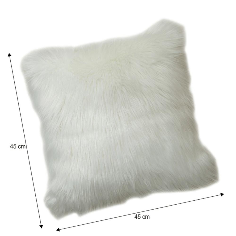 Polštář, bílá, 45x45, EBONA TYP 1