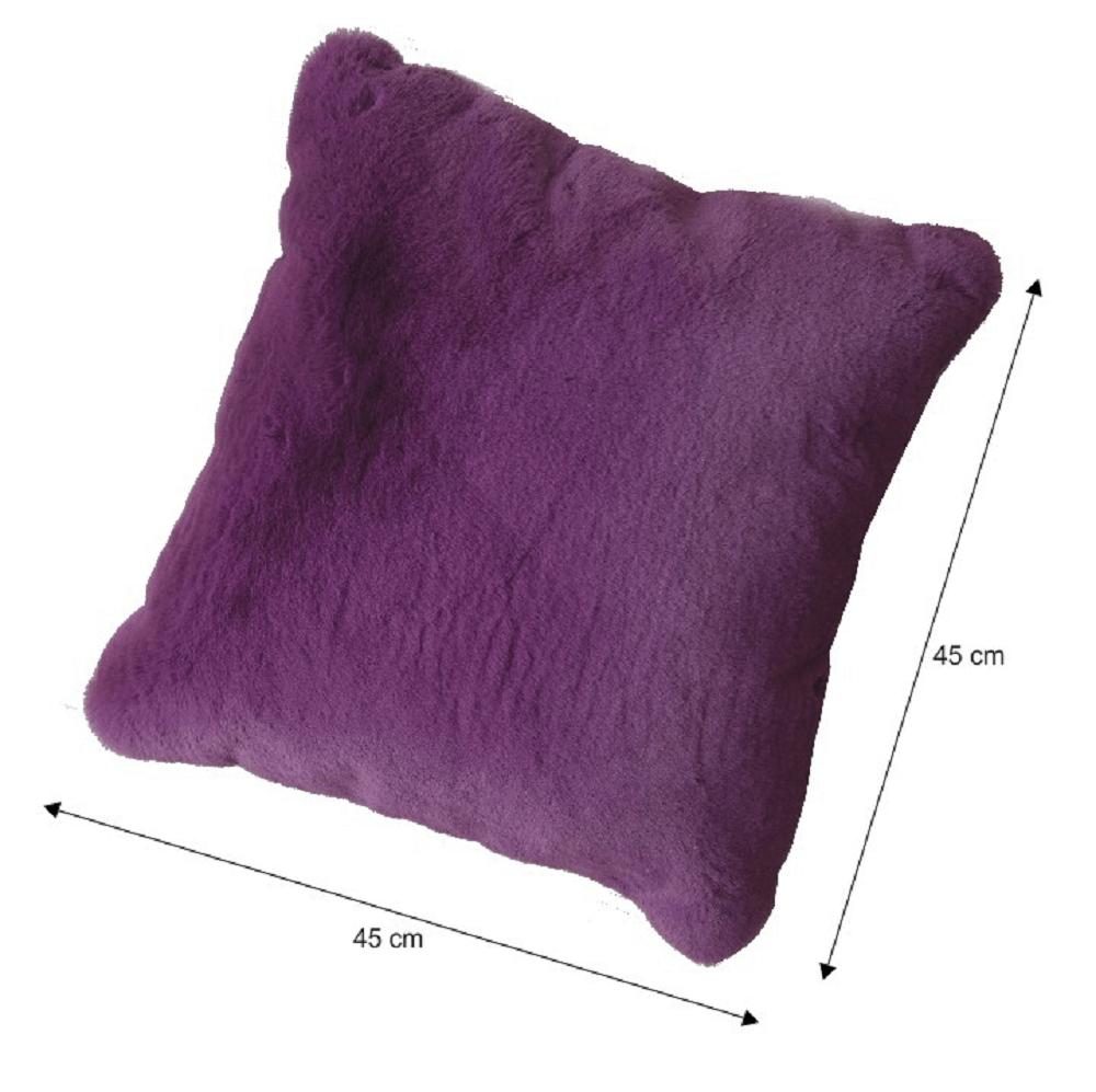 Polštář, fialová, 45x45, RABITA TYP 6