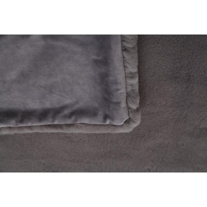 TEMPO KONDELA Kožušinová deka, sivá, 150x170, RABITA TYP 3 - Tempo nábytek