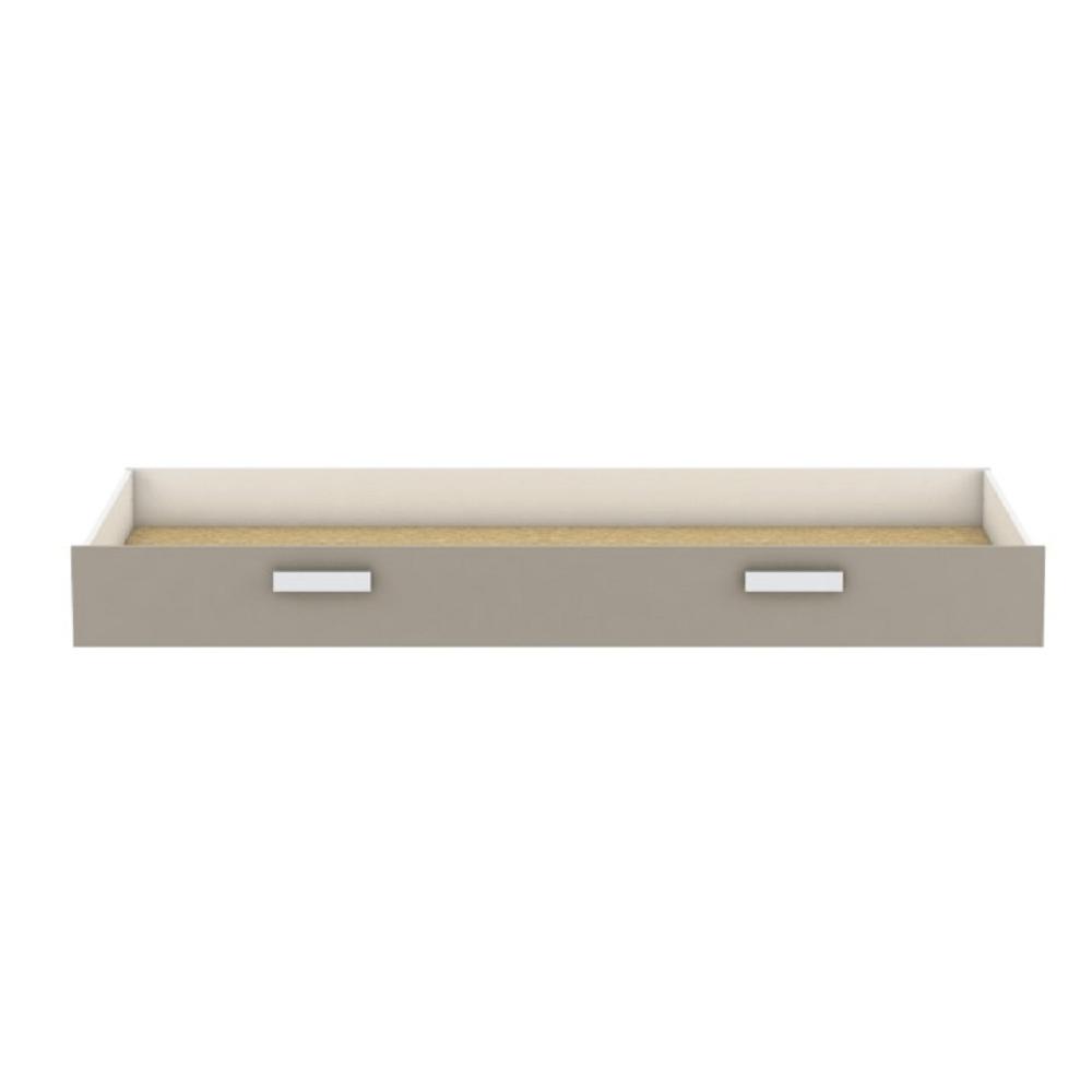 Úložný priestor pod posteľ, biela/sivohnedá taupe, TIDY