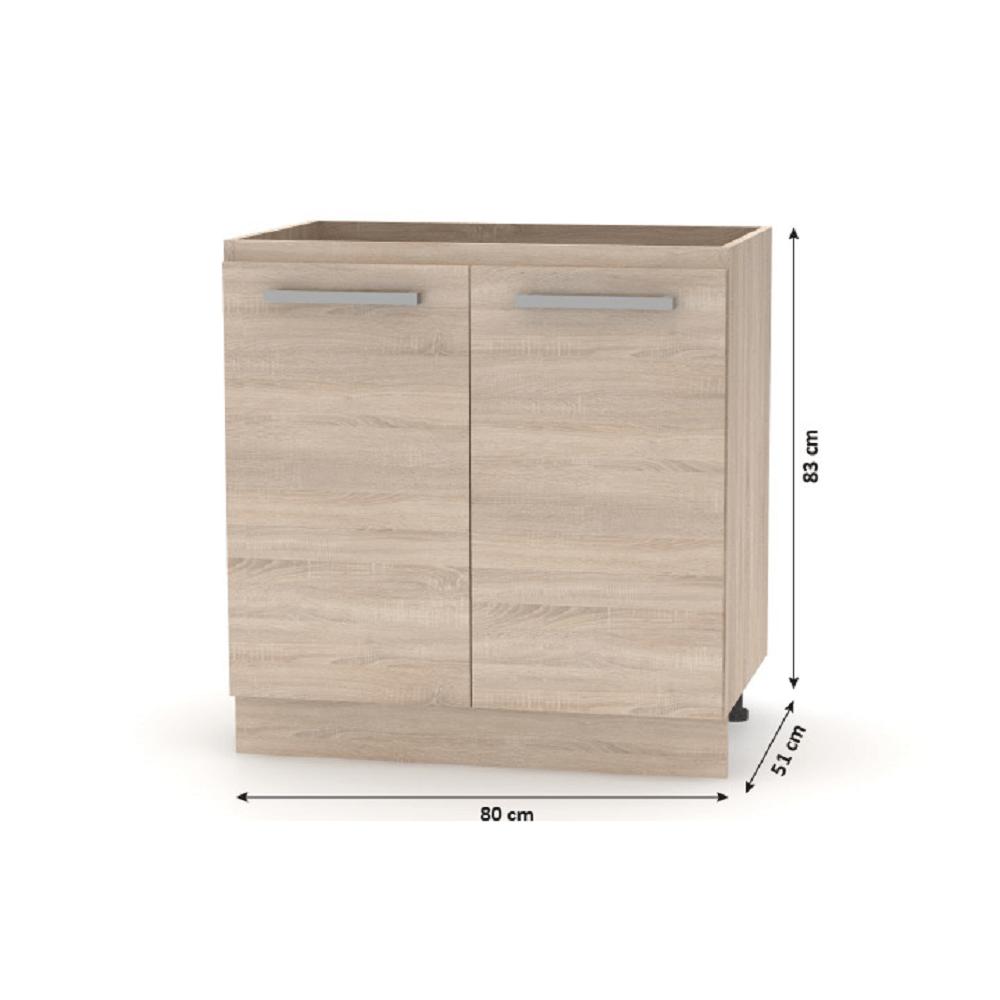 Kuchyňská linka 2, 4 m, dub sonoma / bílá, NOVA PLUS