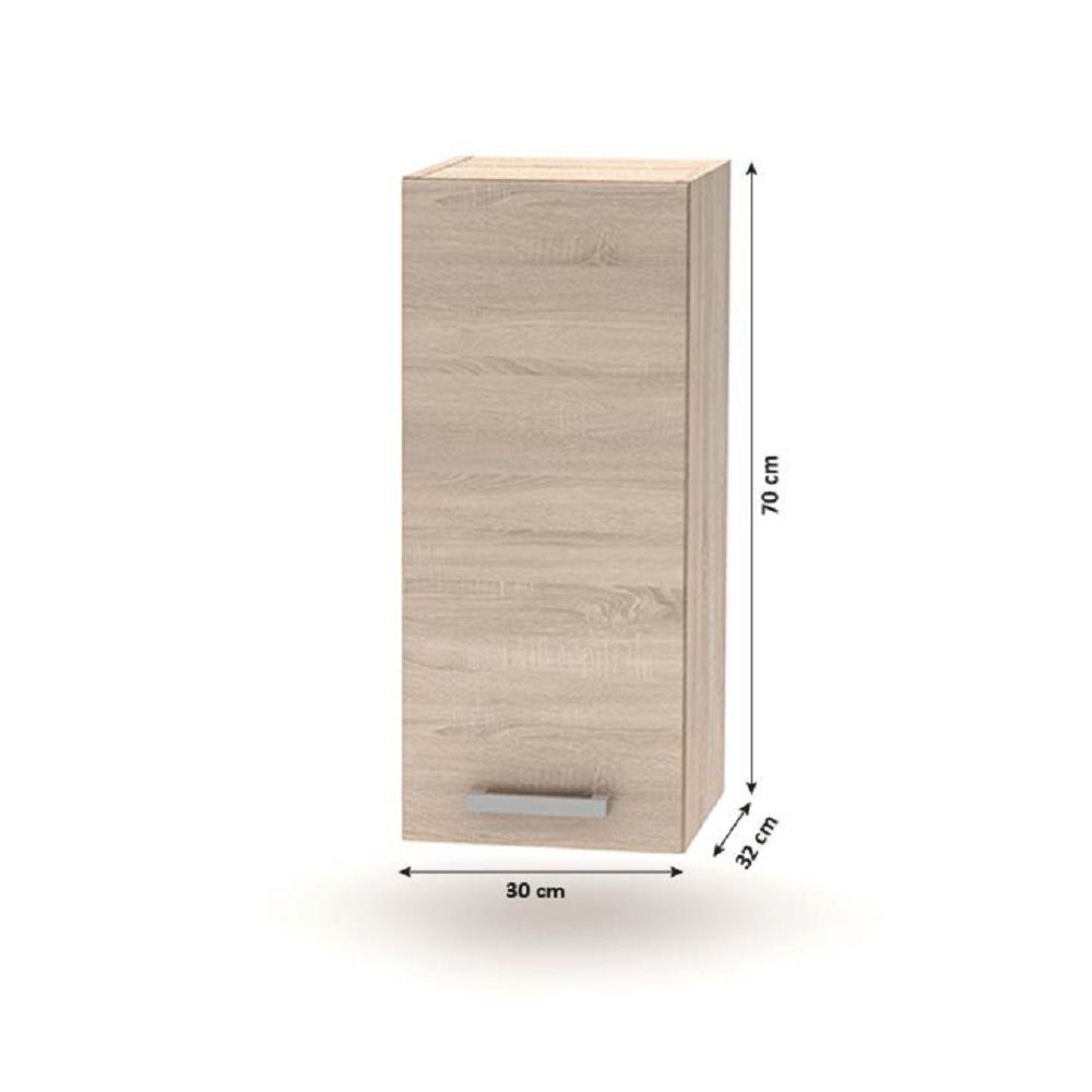 Horní skříňka, dub sonoma, NOVA PLUS NOPL-002-OH