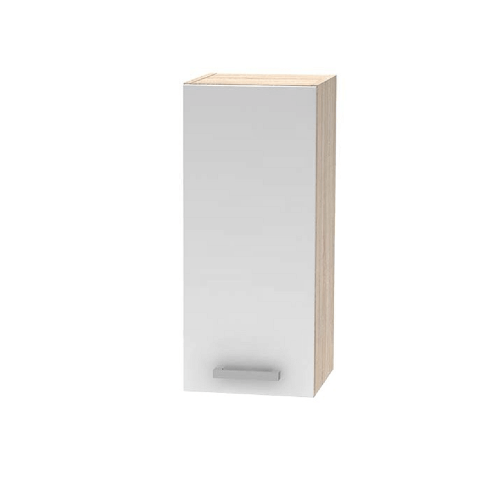 Horná skrinka, biela/dub sonoma, NOVA PLUS NOPL-002-OH