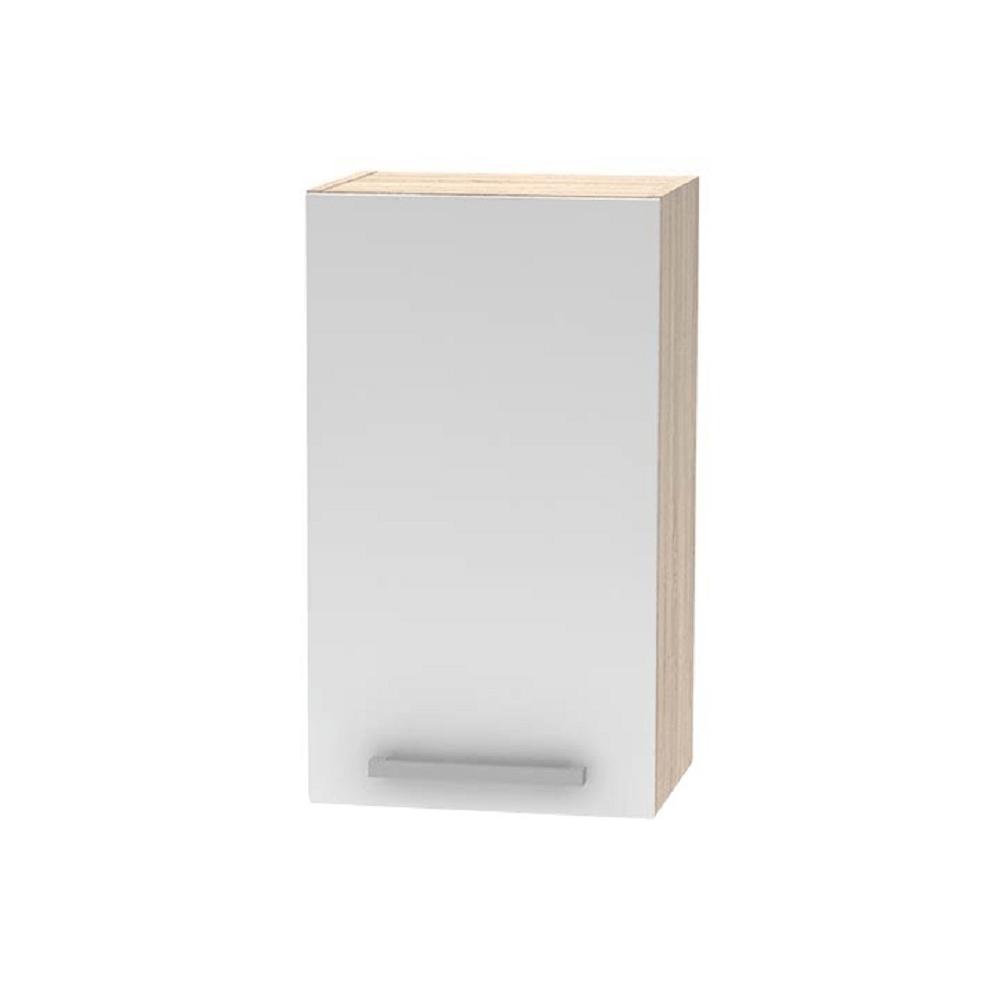 Horní skříňka, bílá / dub sonoma, NOVA PLUS NOPL-005-OH, TEMPO KONDELA