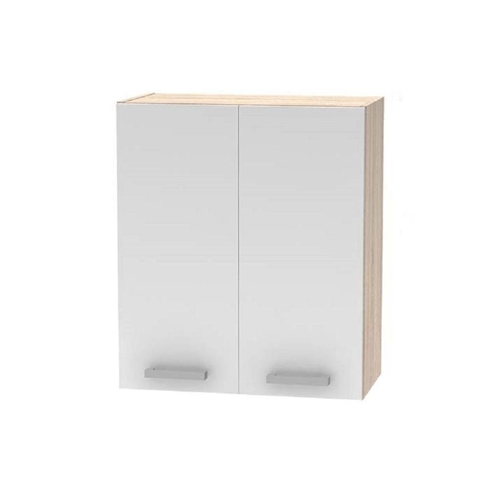 Horní skříňka 2DV, dub sonoma / bílá, NOPL-007-OH