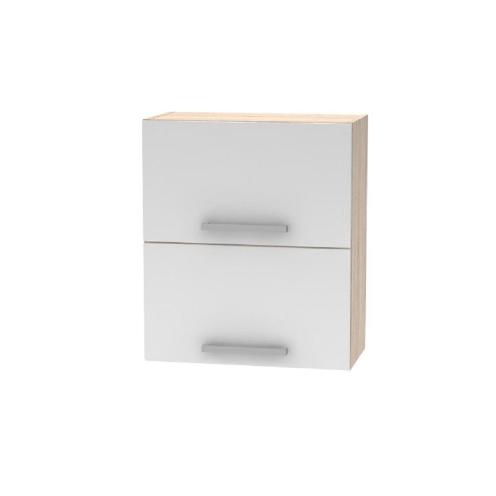 Horná výklopná skrinka 2DV, dub sonoma/biela, NOVA PLUS NOPL-008-VH