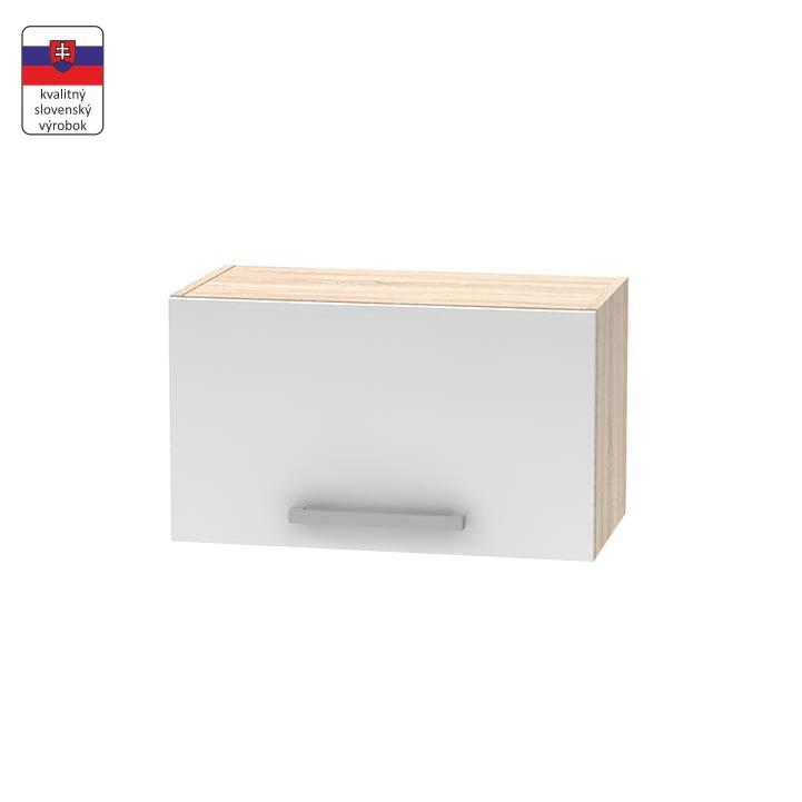 Horná digestorová skrinka 1DV, dub sonoma/biela, NOVA PLUS NOPL-011-OH