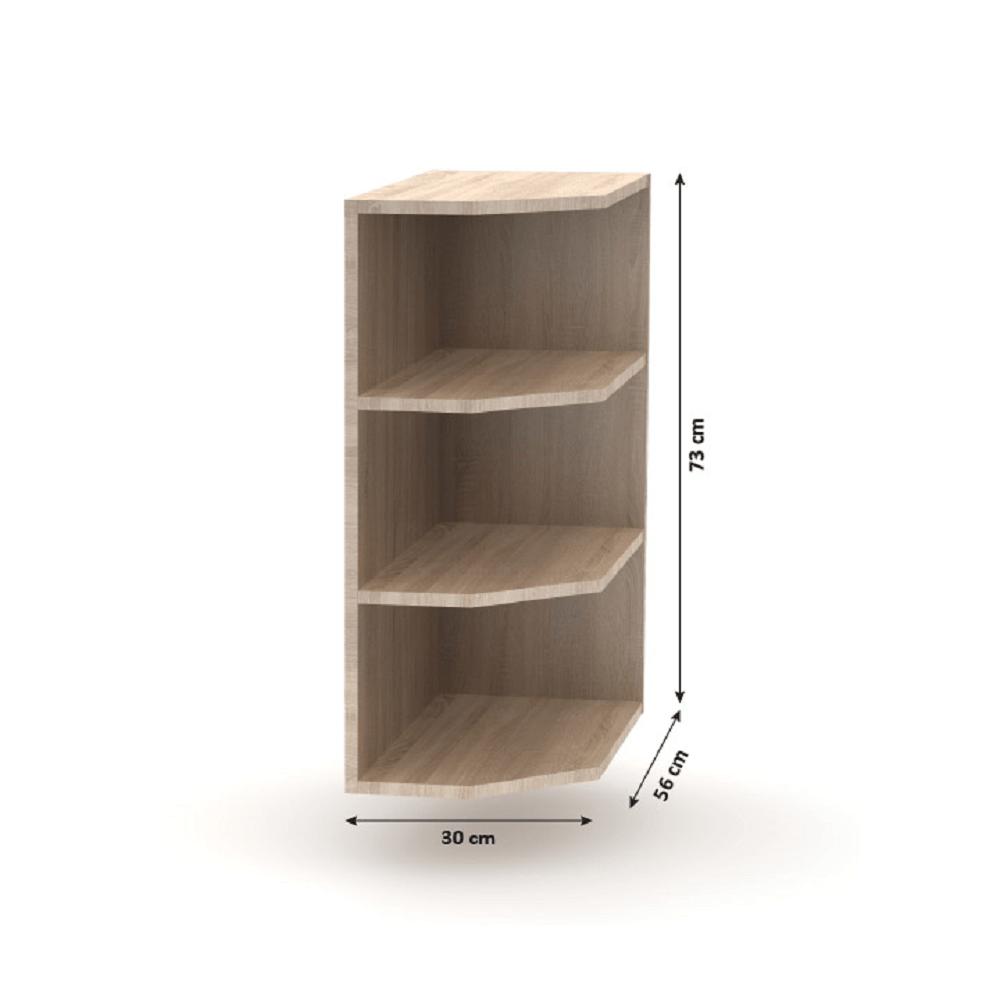 Alsó szekrény, szélső, sonoma tölgy/ fehér, NOVA PLUS NOPL-052-0S