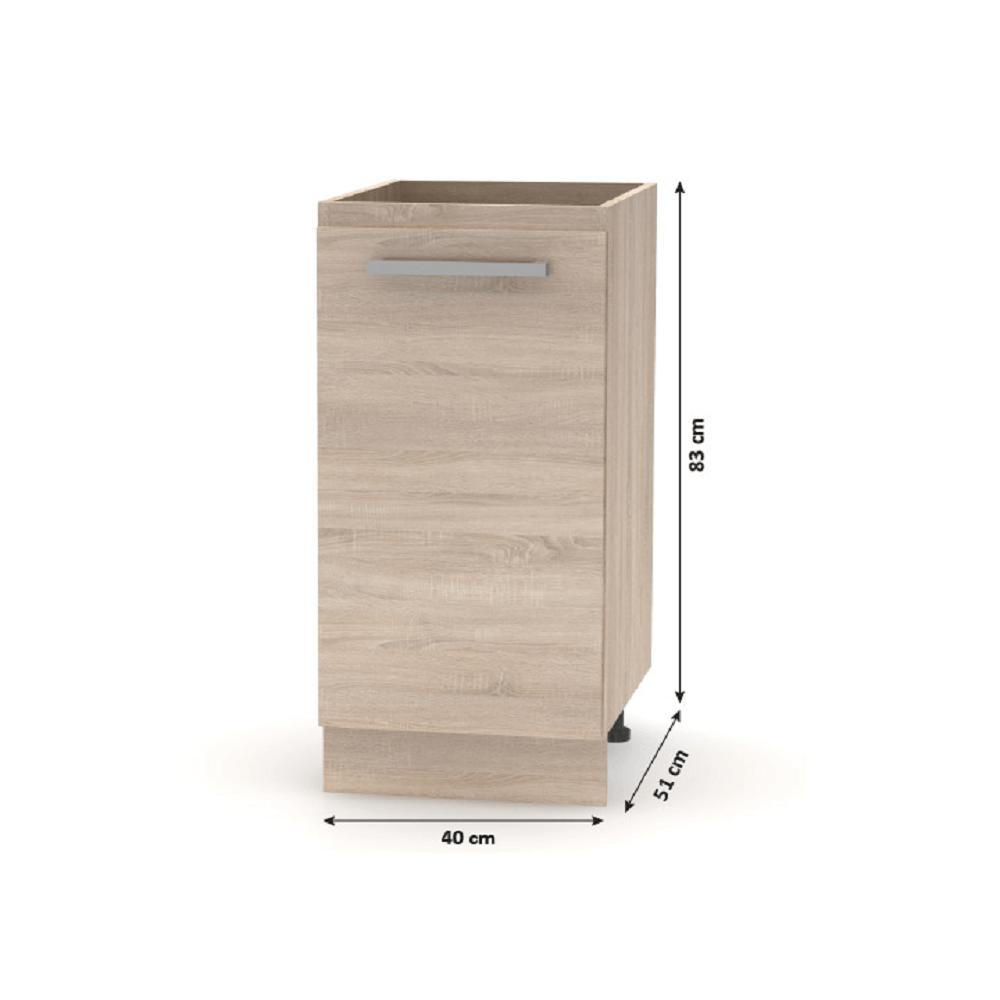 Alsó szekrény, sonoma tölgy, NOVA PLUS NOPL-054-0S