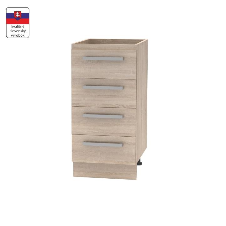 Spodná skrinka 4 šuplíková, dub sonoma, NOVA PLUS NOPL-055-0S