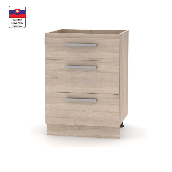 Spodná šuplíková  skrinka 60, dub sonoma, NOVA PLUS NOPL-058-0S