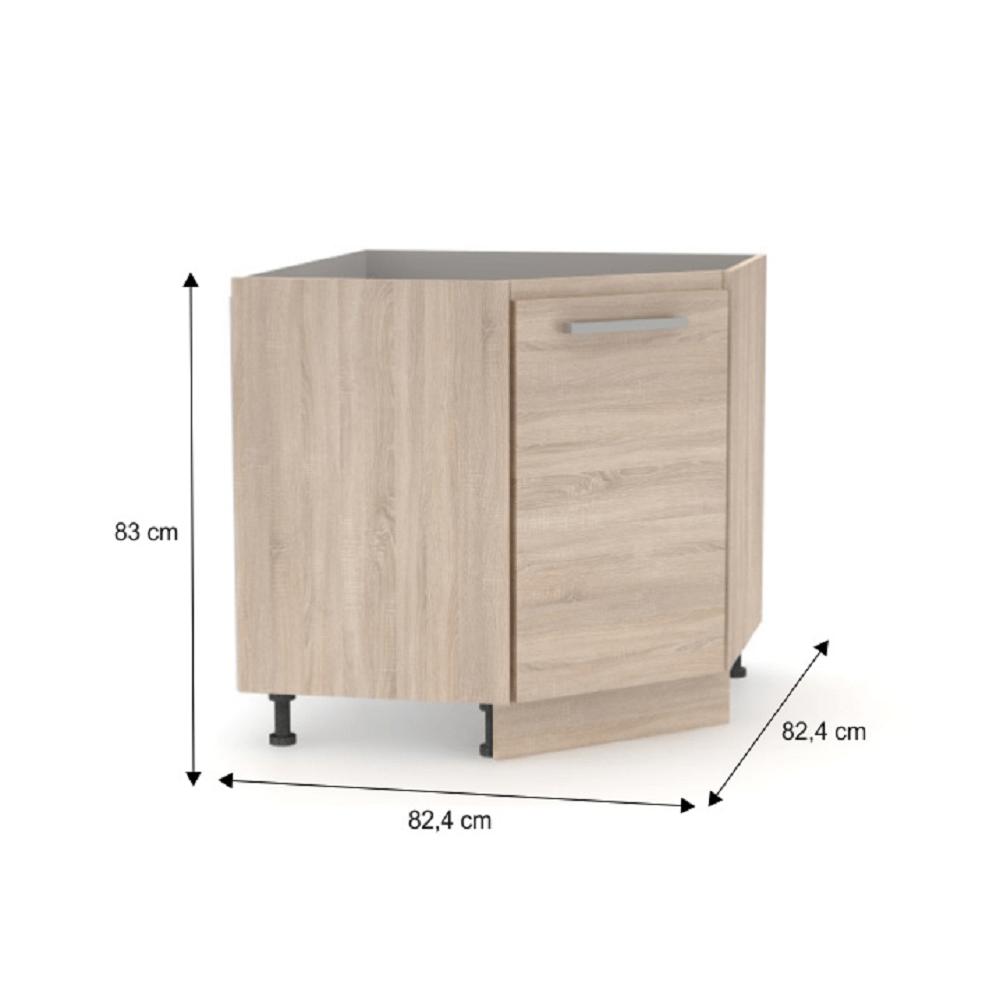 Alsó sarok szekrény, sonoma tölgy, NOVA PLUS NOPL-065-RS